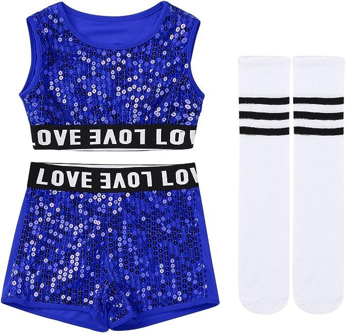 Amazon.com: Yeahdor - Conjunto de ropa de baile para niños y ...