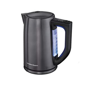 Hamilton Beach 41027, Black Stainless Steel, 6 Variable Temperature Kettle 1.7L