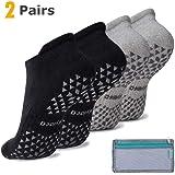 Hylaea Unisex Non-Slip Socks for Women & Men with Grips, Ideal for Yoga, Pilates, Barre, Hospital, Dance, Workout | Cushioned, Non-Skid Slipper Socks