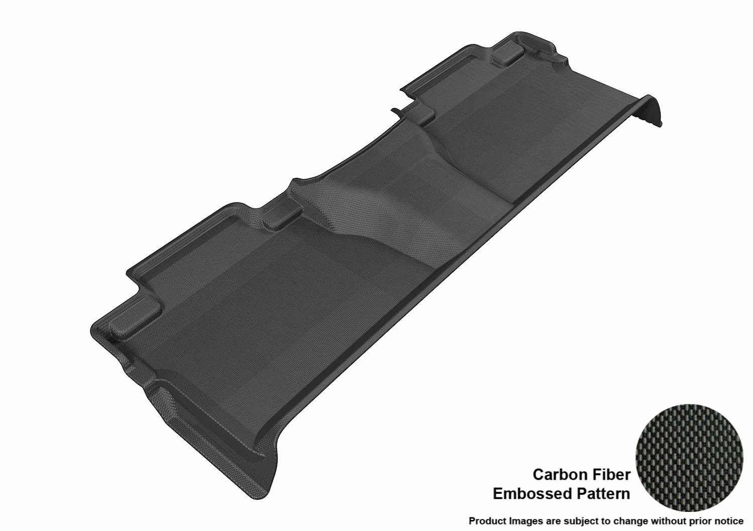 3D MAXpider L1TY15321501 Second Row Custom Fit All-Weather Floor Mat for Select Toyota Tundra CrewMax Models Kagu Rubber Gray