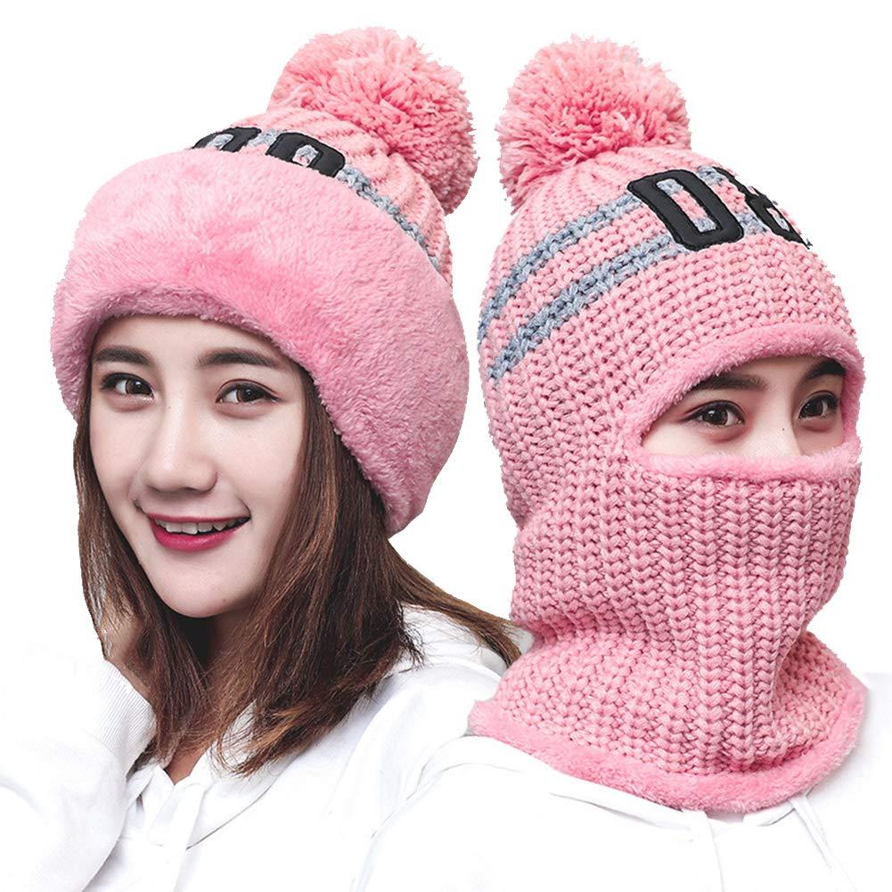 LOLBUY 3-in-1 Women s Slouchy Beanie Winter Hat Knit Warm Snow Ski Skull 3e0f45f7e8f8