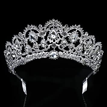 Diamante Bridal Hairband Rhinestone Head Band Piece Crystal Tiara Silver Wedding