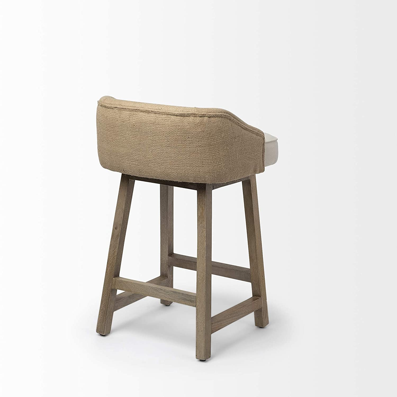 Admirable Amazon Com Mercana Wood And Fabric And Jute Bar Stool In Creativecarmelina Interior Chair Design Creativecarmelinacom
