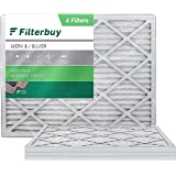 FilterBuy 18x24x1 Air Filter MERV 8, Pleated HVAC AC Furnace Filters (4-Pack, Silver)