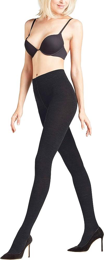 c5f8abfe70e37 Falke Women's Soft Merino Wool-Cotton Sweater Tight, Black, Large/44 ...