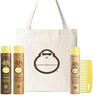 product image for Sun Bum Hair Essentials Kit | Daily Hair Bundle with Shampoo, Conditioner, Dry Shampoo, Wide Tooth Comb and Sonny Tote