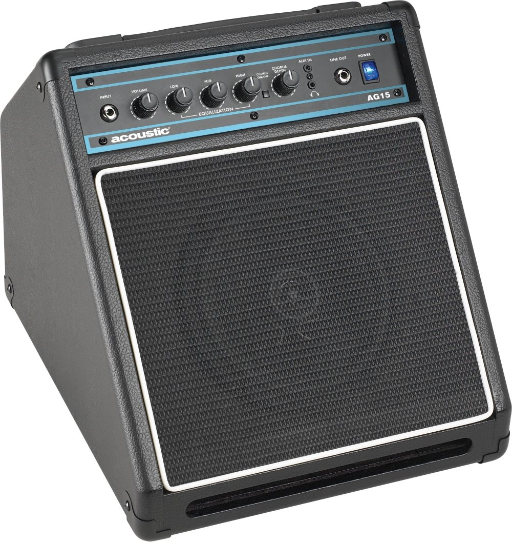 Acoustic Ag15 15w 1x8 Guitar Combo Amp Black Or Music Amplifier Home Stereo Powered Subwoofer Musical Instruments