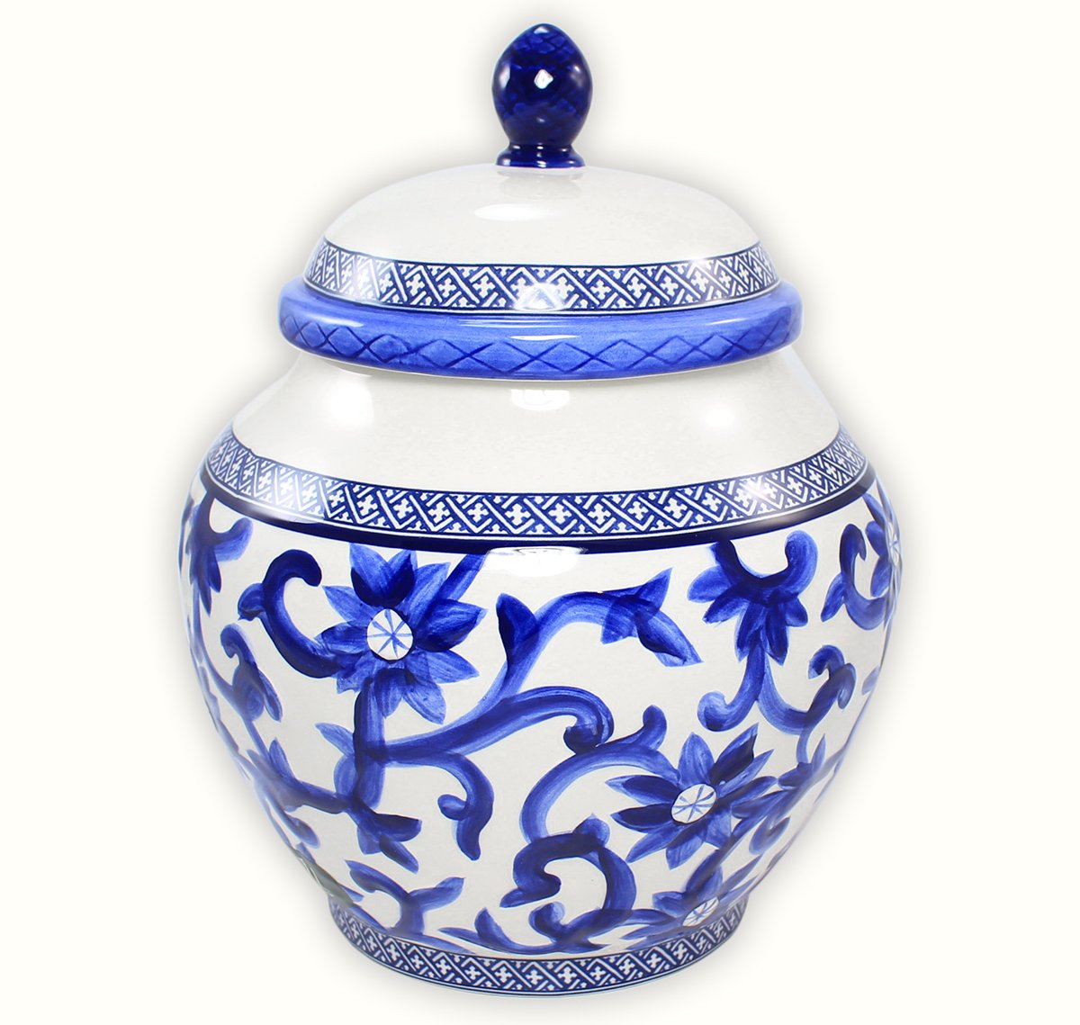 Ralph Lauren Mandarin Blue Porcelain Medium Ginger Jar Canister (9-in) by RALPH LAUREN