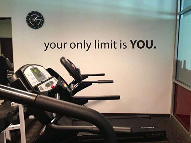 Amazon fitness room wall decor your only limit is you gym