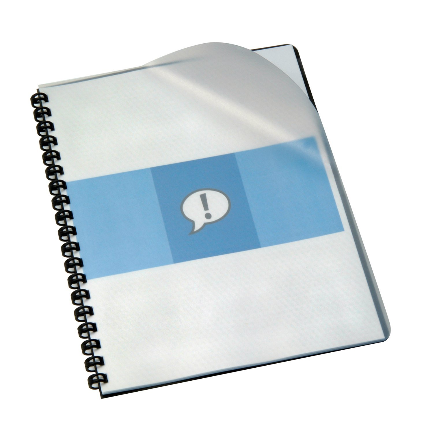 GBC Report / 11 x 8.5'' Presentation Covers, Premium Plus Frost Poly, 14 mil, Clear View, 100/Box (2000919G)