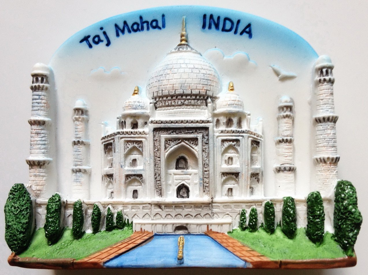 Taj Mahal INDIA Resin 3D fridge Refrigerator Thai Magnet Hand Made Craft. by Thai MCnets