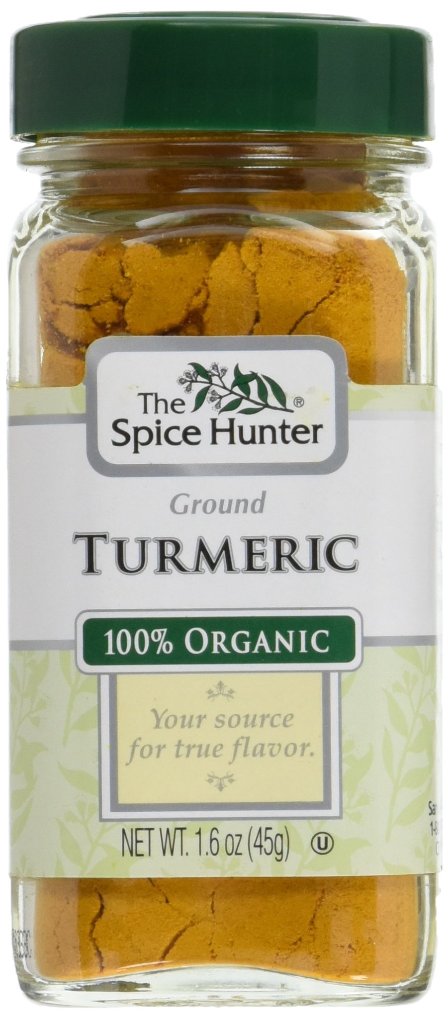 The Spice Hunter Turmeric, Ground, Organic, 1.6 Ounce Jar (Pack of 48) by Spice Hunter