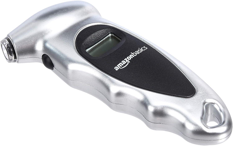 Basics Digital Tire Pressure Gauge 3-Pack Silver