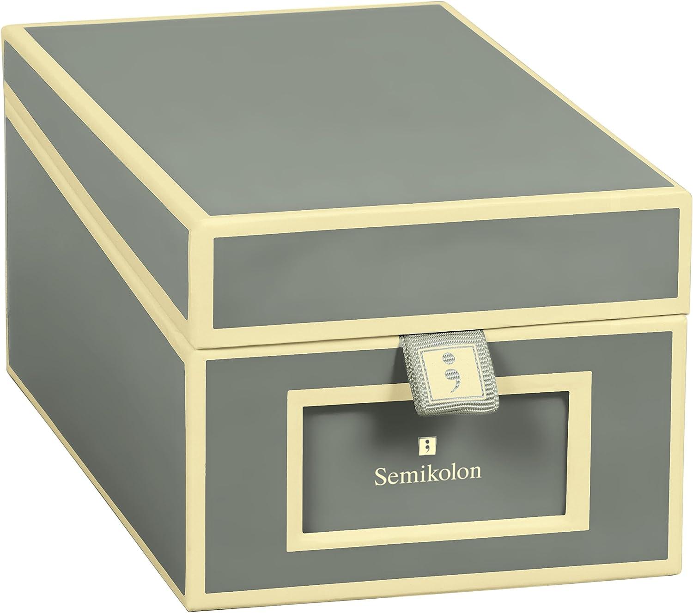 Caja para Tarjetas de Presentación, gris antracita +++ zur VISITENKARTEN AUFBEWAHRUNG +++ calidad SEMIKOLON: Amazon.es: Hogar