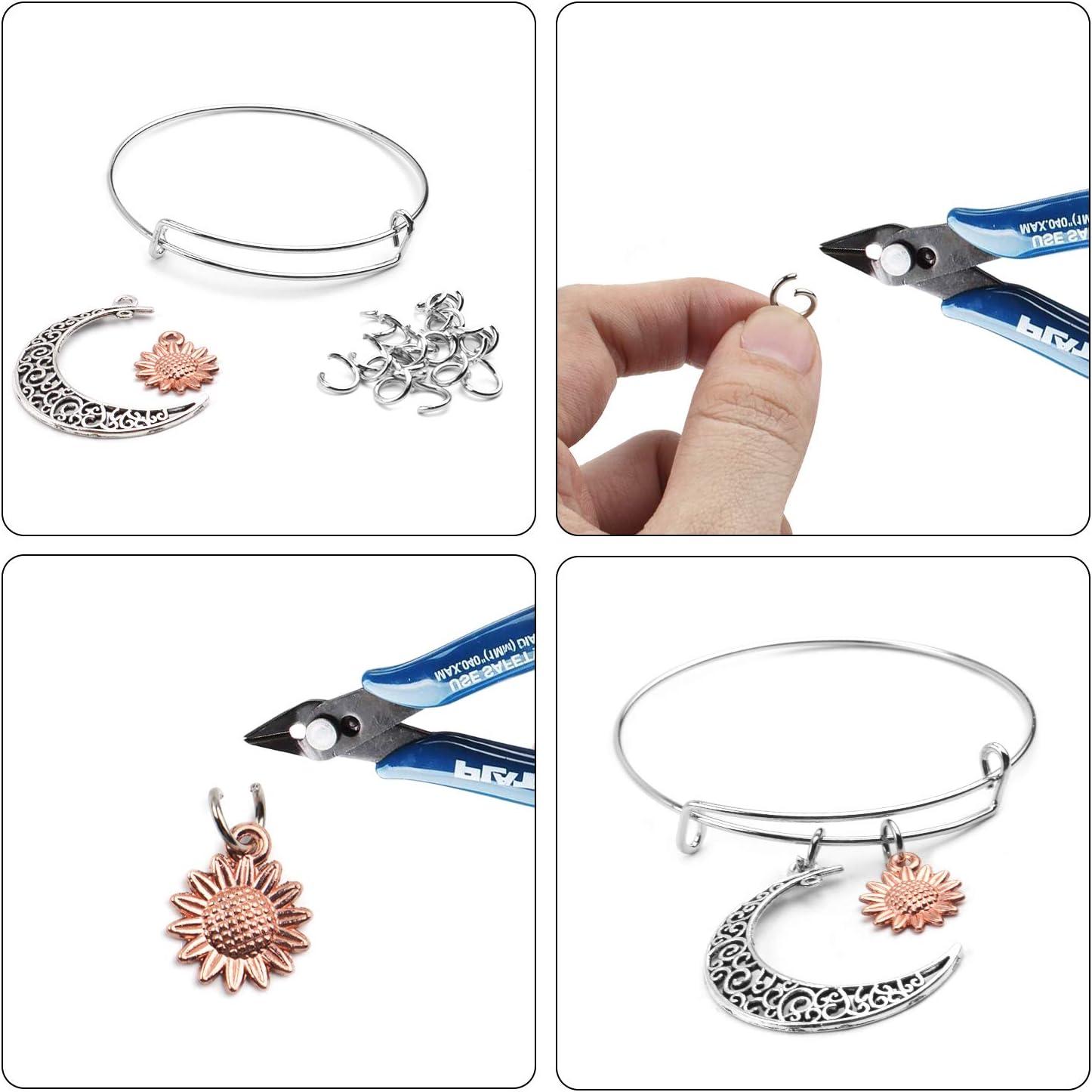 20pcs Bracelet Anneau Argent Filles Bracelet Cordon Argent Bracelet R/églable Files Et 100pcs Anneau de Jonction Bijoux pour Fabrication De Bijoux Femmes Bracelet R/églable Femme