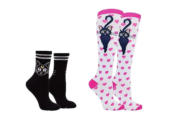 22267d093 Amazon.com  Sailor Moon Socks (2 Pair) - Sailor Moon Costume Cosplay ...