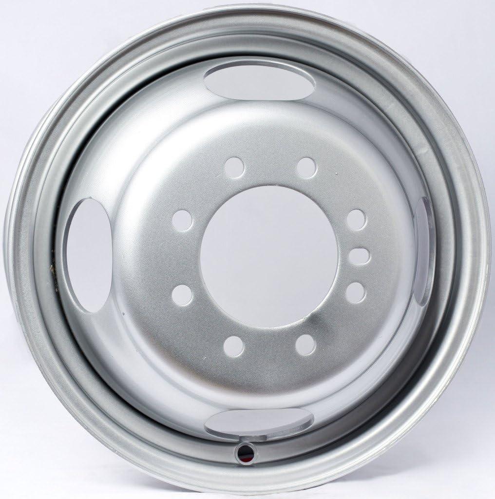 2-Pack Trailer Rim Wheel 16X6 8-6.5 Silver Dual 4.88 Center Bore 3200 Lb.