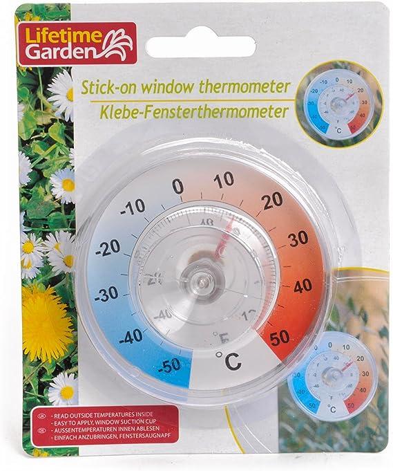 Lifetime Garden Thermometer Für Fenster Mit Saugnapf Mehrfarbig 13 X 4 X 16 Cm 45919 Garten