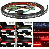Wiipro 60 Inch LED Truck Tailgate Light Strips Bar Red/White Reverse Parking Brake Turn Signals for Ford Dodge Ram Chevy Silverado Chevrolet GMC Toyota Nissan