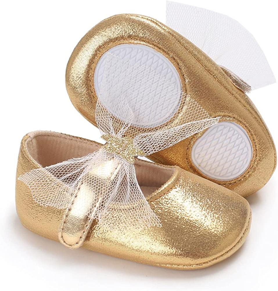Sunward 1Pair Cute Baby Girl Soft Sole Princess Shoes Prewalker