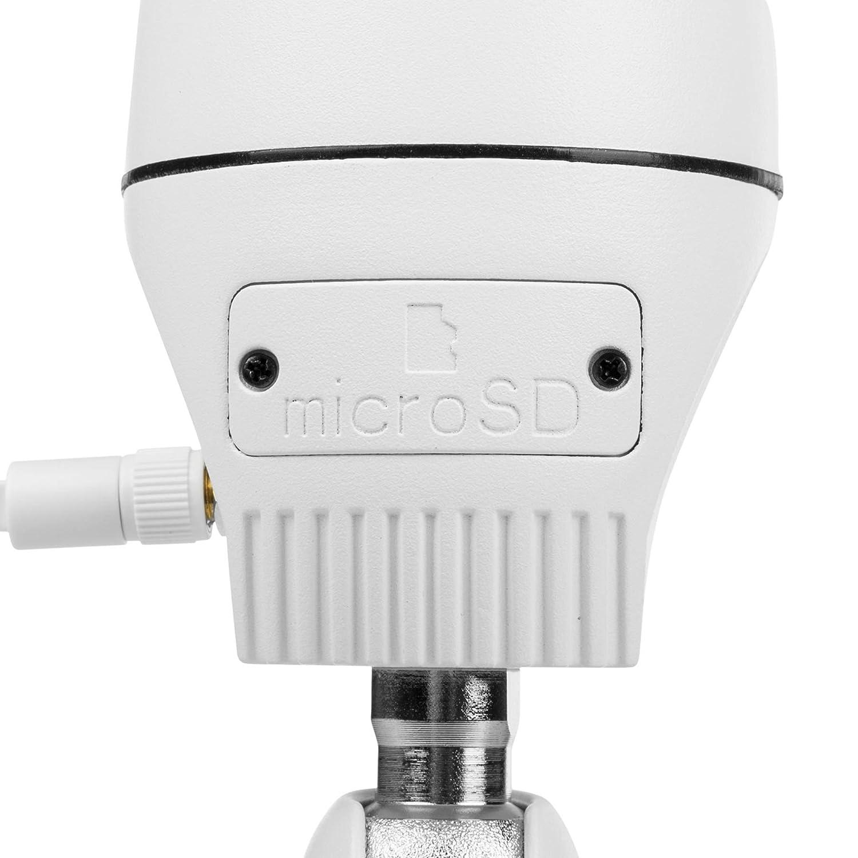 Grand angle /à 180 degr/és vid/éo Full HD 1080P Smartwares CIP-39220 Cam/éra IP d/'ext/érieur fonction rotation Digitale