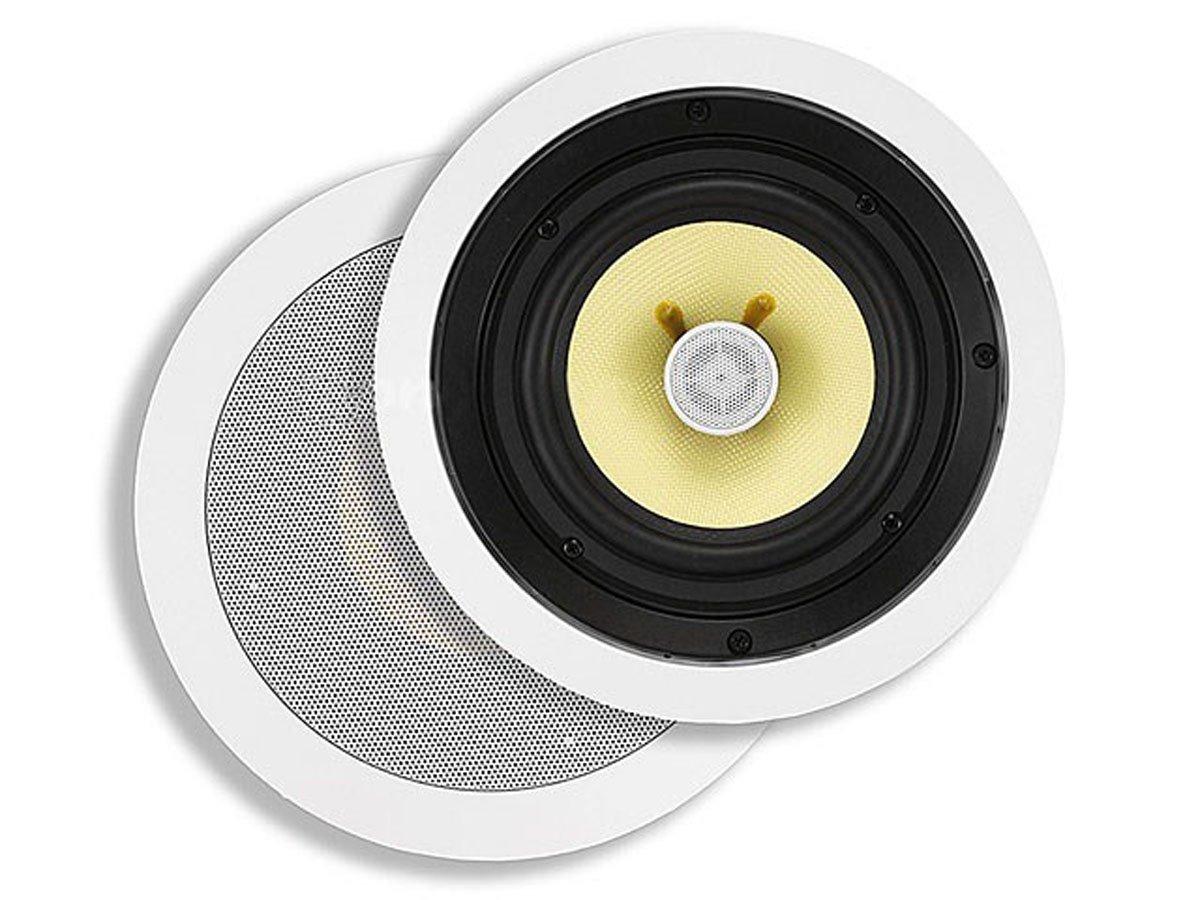 Monoprice Kevlar 2-Way in-Ceiling Speakers 5-1/4-Inch (Pair) 50W Nominal, 100W Max, Aramid Fiber Fiber Cone Driver