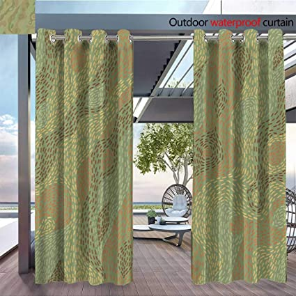 Amazon Com Qianhe Patio Curtains Green For Jpg Outdoor Curtain