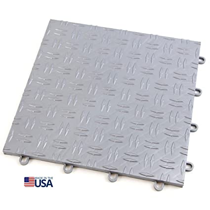 Incstores 12in X12in Grid Loc Garage Flooring Tiles 12 Tile Pack Interlocking Modular Floor System With Built In Drainage And Snap Together