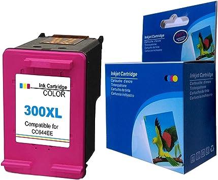 Ksera Reconstruido HP 300 XL Color HP 300 Cartuchos de Tinta de Alto Rendimiento de un Color (CC644EE) Compatible con HP DeskJetD1660/D2660/D5560/F2480/F4280/F4580/D2560/HP PhotoSmart C4680/C4780: Amazon.es: Electrónica