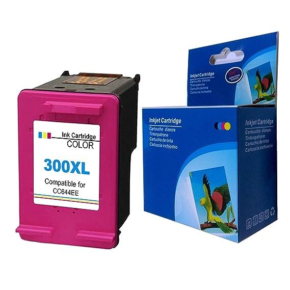 Ksera Reconstruido HP 300 XL Color HP 300 Cartuchos de Tinta de Alto Rendimiento de un Color (CC644EE) Compatible con HP ...