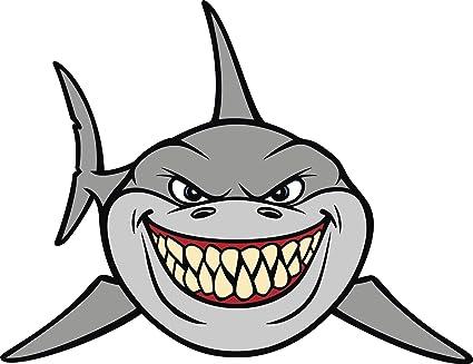 Amazon Com Cool Hungry Hunting Gray Smiling Shark Cartoon Emoji