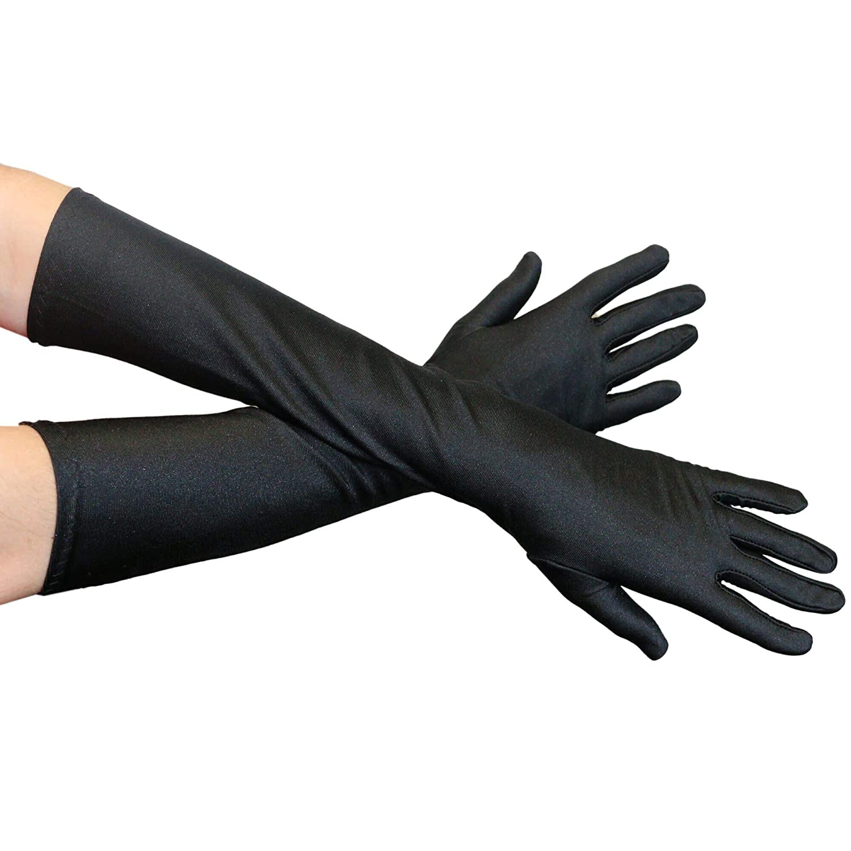 高価値 danzcueホワイトロングストレッチ手袋 B07GYR8HGX ブラック One One Size Size, 目黒区:055d7d13 --- lamisionera.tv