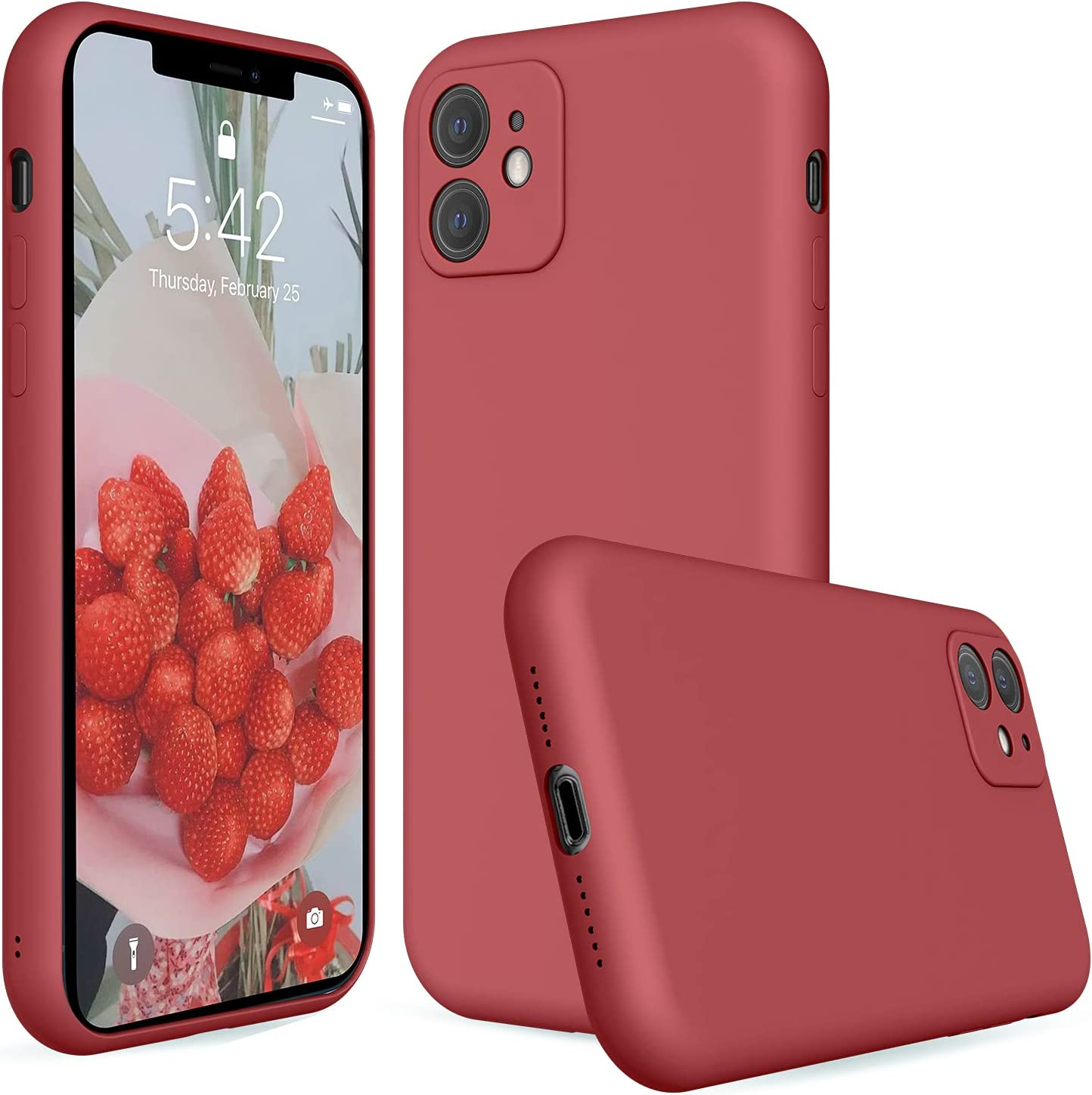 iPhone 11 Silicone Case Camellia,Liquid Silicone Case Compatible with iPhone 11,Protective Cover Case for iPhone 11 Camellia 6.1 Inch