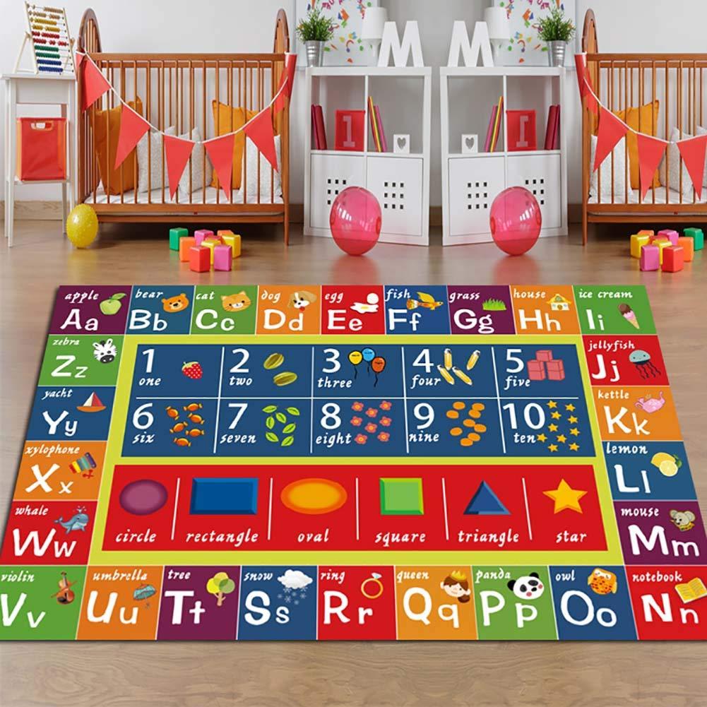 カーペット_子供たちはカーペット、ABC、数字と英語、形、教育エリアのカーペットやゲームルーム、子供の安全スキッドゲームカーペット B07KBXNZWW B 160*230CM