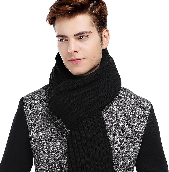 Acrylic fibres Fashion Designs Winter Women Man Long Scarf  Navy