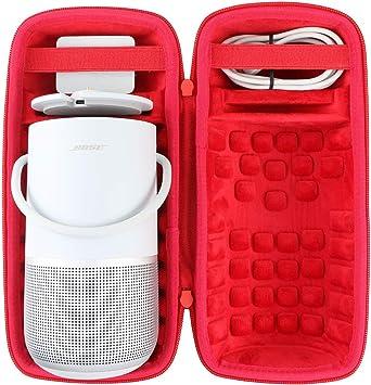co2CREA Duro Viajar Caja Estuche Funda para Bose Portable Smart Speaker (Estuche Solo)(Negro/Rojo): Amazon.es: Electrónica