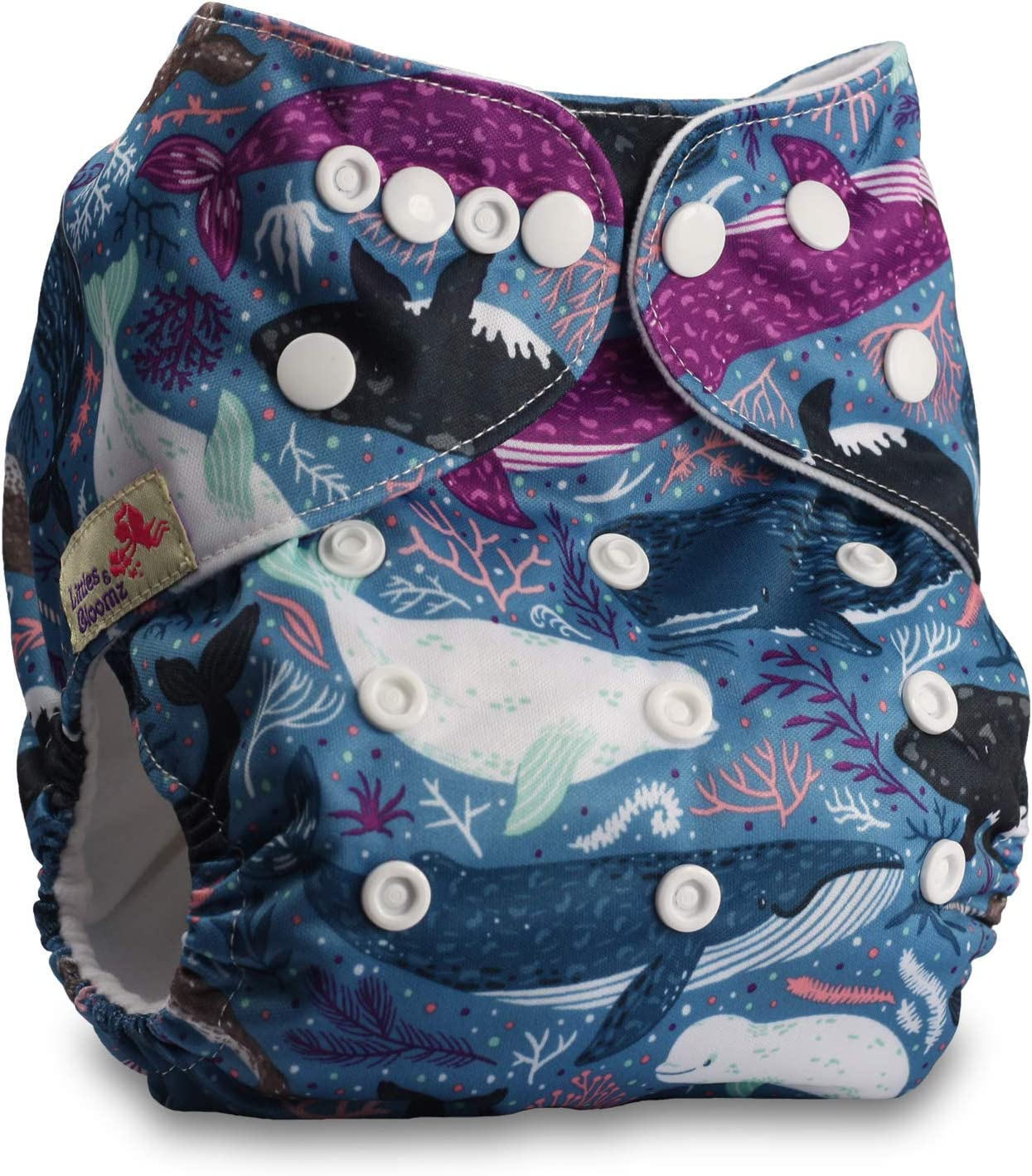 Set of 3 Reusable Pocket Cloth Nappy Fastener: Popper Littles /& Bloomz Without Insert Patterns 307
