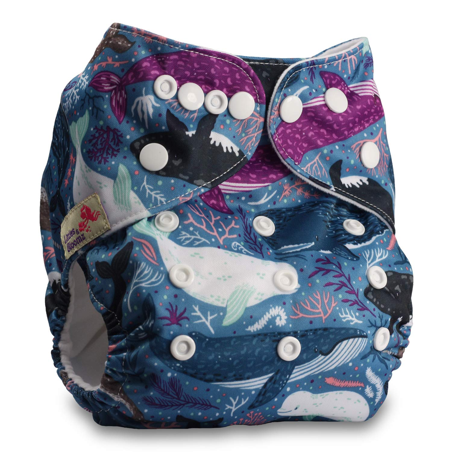 Set of 1 Reusable Pocket Cloth Nappy Pattern 86 Fastener: Popper Without Insert Littles /& Bloomz