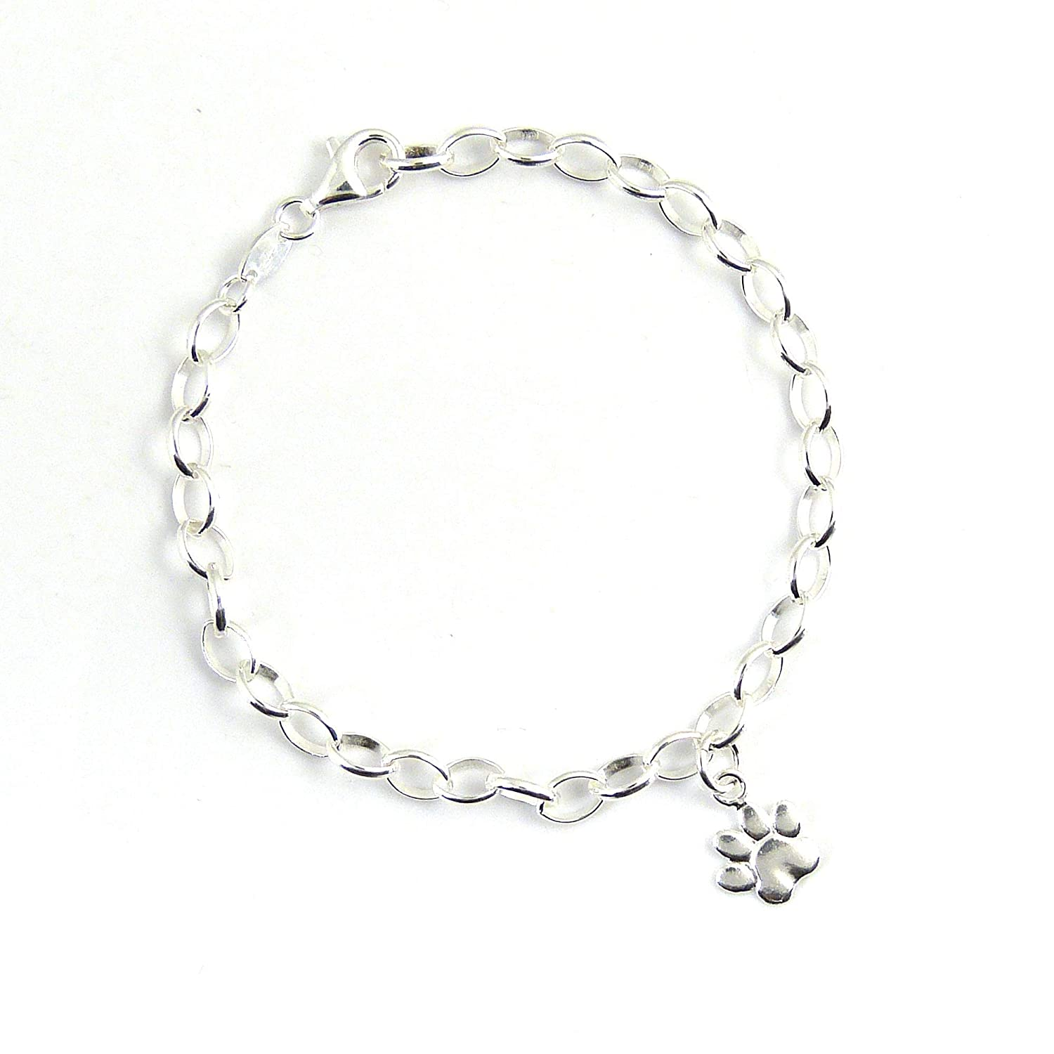 Ready To Ship 925 Sterling Silver Paw Bracelet Gift Boxed