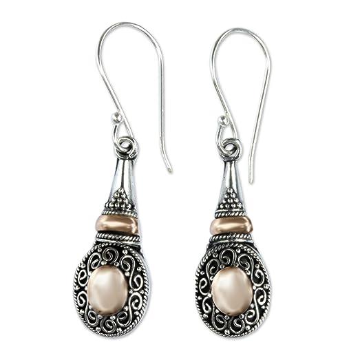 Novica Sterling silver dangle earrings, Mystic Mantra