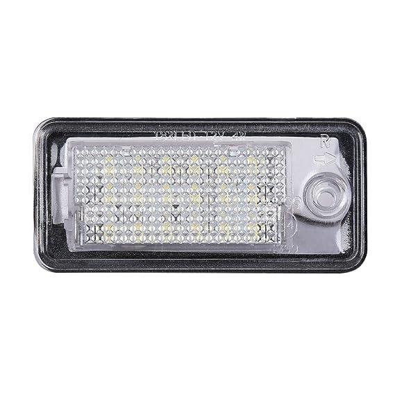 Luz matrícula SMD Iluminación LED placa matrícula Set 2lámparas Número matrícula Audi A3 8P A4 8E: Amazon.es: Bricolaje y herramientas