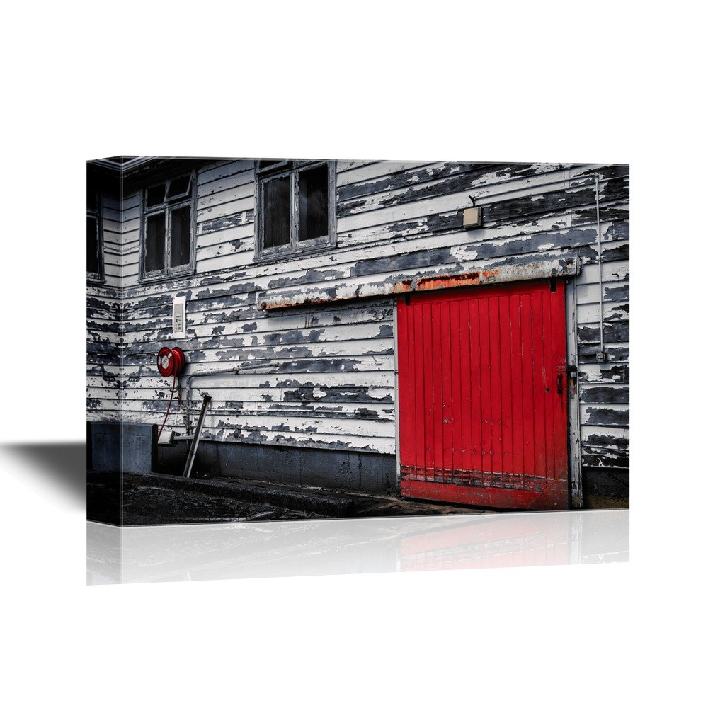 Wall26   Doors Canvas Wall Art   Red Door And Fire Reel,Old Fire Station In  Wellington, New Zealand   Gallery Wrap Modern Home Decor | Ready To Hang    24x36 ...