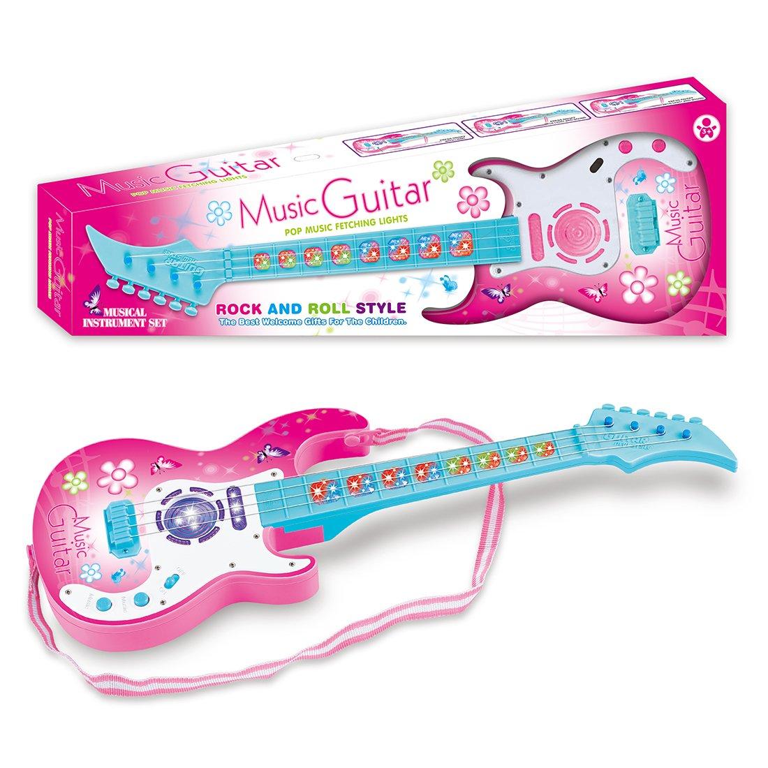 MAJOZ 4 Cuerdas Guitarra Eléctrica Rock para Niños - Juguetes ...