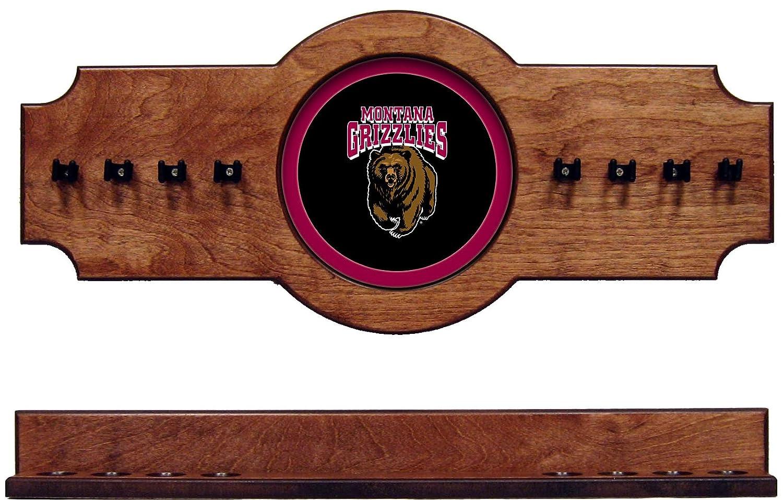 NCAA Montana Grizzlies umtcrr100-p 2 pc吊り壁プールキュースティックホルダーラック – Pecan   B01GF4IPYW