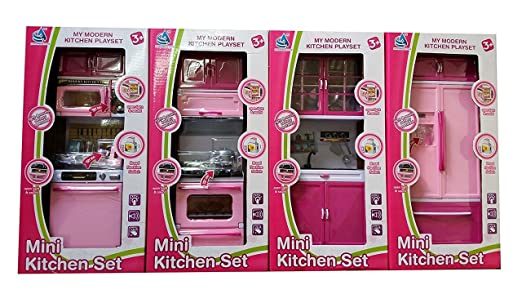 Buy 4 Pcs Play Kitchen Set Toy With Lights And Music Online At Low