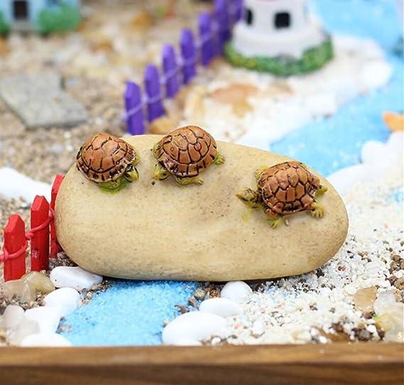 NaXinF Roca Escalera con Planta Tortuga Adorno de Tortuga de jardín de Tortuga Sobre la Piedra para el Escenario de Paisaje de Acuario: Amazon.es: Productos para mascotas