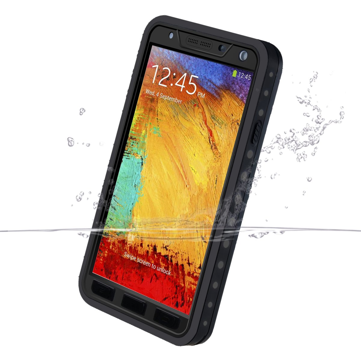 save off a7960 934a6 Galaxy Note 3 Waterproof Case, iThrough™ Galaxy Note 3 Waterproof Case for  Water, Dust Proof, Snow Proof, Shock Proof Full Sealed Protection Case ...