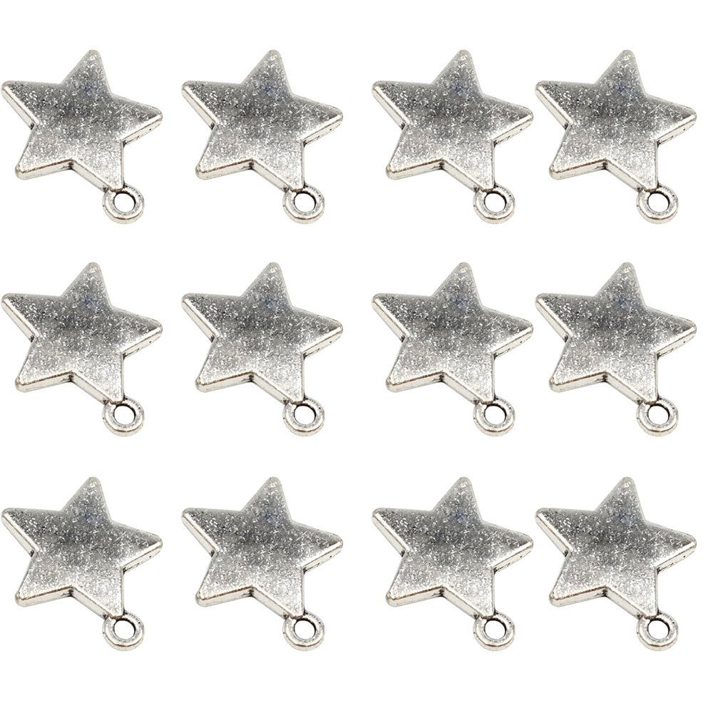 YYaaloa 100pcs Mini 2018 13mm x 9mm DIY Years Charms Pendant for Crafting Jewelry Making Accessory (100pcs 2018)