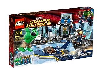 Lego 6868 Super Heroes Hulk S Helicarrier Ausbruch Amazon De Spielzeug