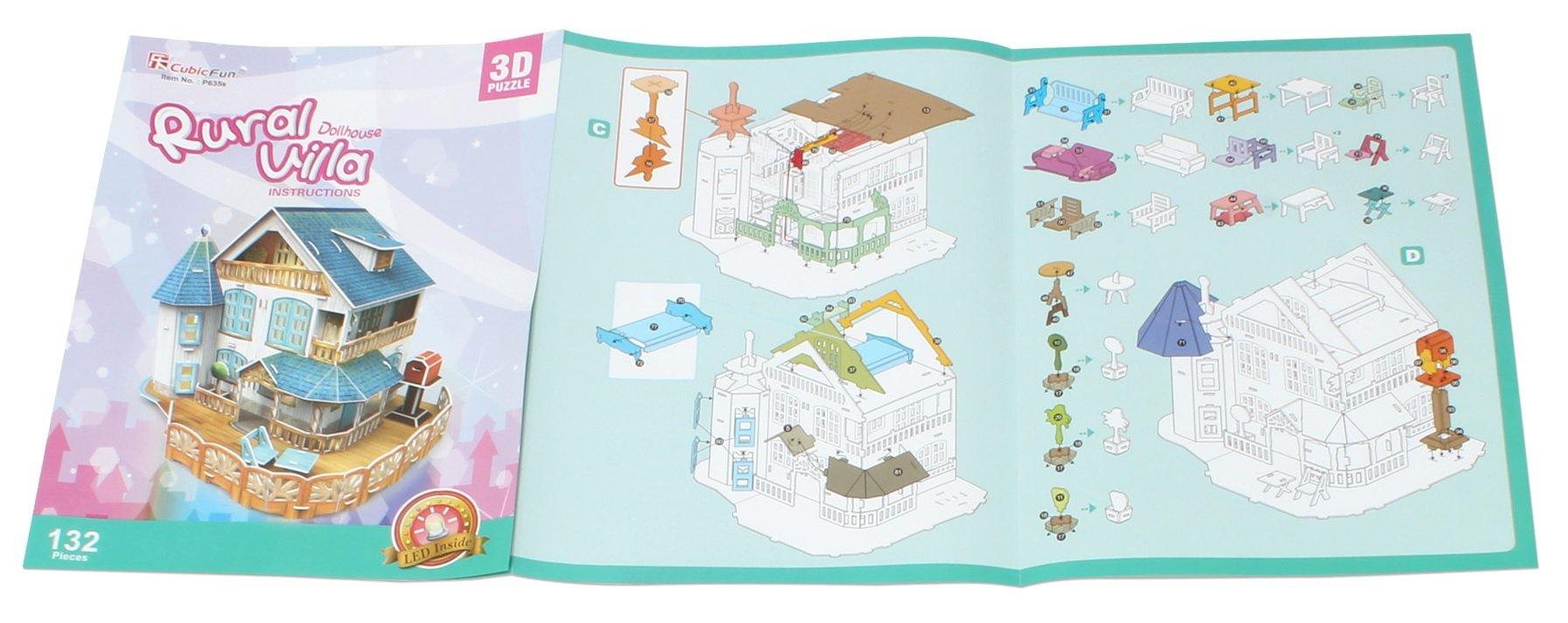 3D Puzzle Place Cubic Classic Rural Villa Dollhouse by 3D Puzzle Place (Image #4)